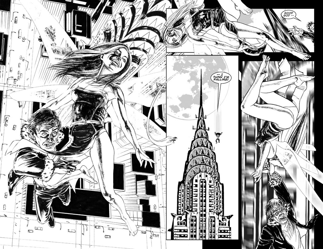 Issue 2, Pages 12+13 - Good God, I Think I'm Falling!